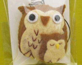 Felt Owl Charm
