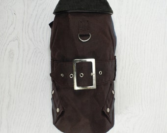 Classic Style Waxed Dog Jacket - Copper