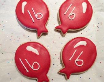 Birthday Day Balloon Sugar Cookies