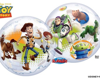 Toy Story Movie Buzz Lightyear BUBBLE Plastic Birthday Balloons Toy Story Party Supplies Woody