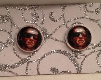 Terminator Inspired Arnold Schwarzenegger Earrings!