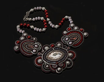 "Soutache necklace ""Aurelia"""