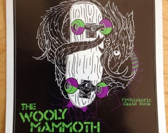 The Wooly Mammoth Skate Rock Band Sticker by Seven 13 Productions