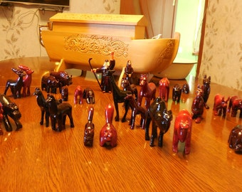 Handmade Noah's Ark with Animals