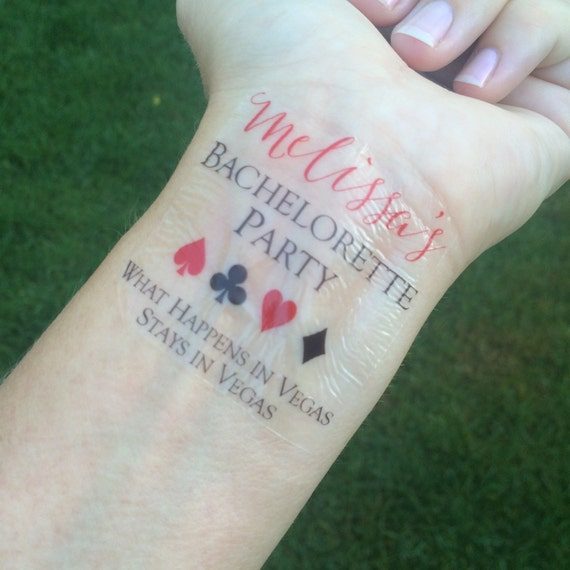 Las vegas bachelorette party tattoo stays in vegas for Fake name tattoos