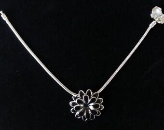Black Flower Bracelet