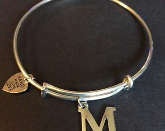 M Charm Bracelet
