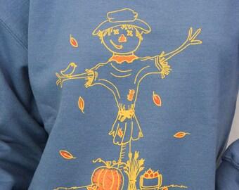 Scarecrow sweatshirt screen print