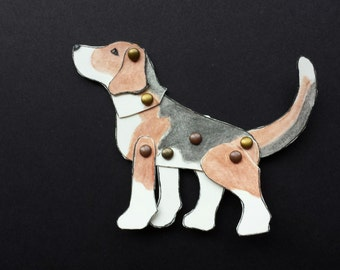Moveable Dog Paper Doll