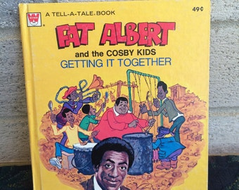 Vintage 1975 Fat Albert and the Cosby Kids Getting it Together, Bill Cosby Book, Fat Albert Book, Vintage Book