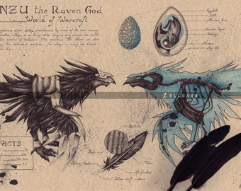 World of Warcraft Art Print - Anzu