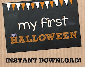 Baby's First Halloween Printable - INSTANT DOWNLOAD**
