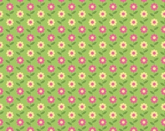 Riley Blake Summer Song daisy GREEN by Zoe Pearn (C4623 GREEN)