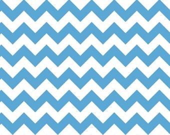 Riley Blake Small Chevron Medium Blue (C340-22)