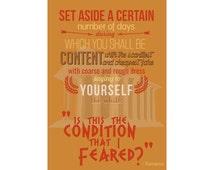 Seneca on Contentment Colour poster A3