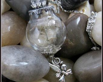 "Dandelion Seed Pendant on 28"" Chain"