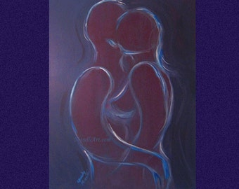 """Painting, Acrylic on 16 x 20 Canvas, Unframed, Original, """"Passion"""""""