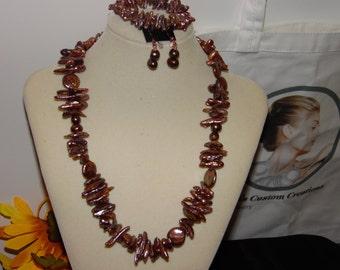 Carolyn Osborn-Cooper Color Fresh Water Cultured Pearls, Handmade jewelry