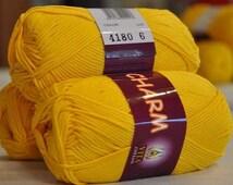 Mercerized cotton yarn CHARM Set of 5 skeins 100% mercerized cotton by Vita Cotton / Yarn knitting crochet 106m 50g