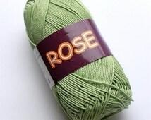 Mercerized cotton yarn ROSE 100% double mercerized cotton by Vita Cotton / Set of 5 skeins /Yarn knitting crochet 150m 50g Summer soft yarn