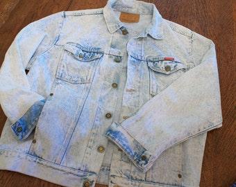 acid wash wrangler denim jacket