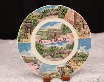 Rock City Souvenir Plate. Vintage Tennessee