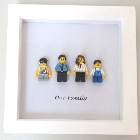lego personalised family portrait frame. Black Bedroom Furniture Sets. Home Design Ideas