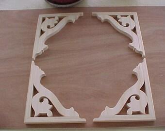 Victorian Gingerbread Screen Door Brackets Set of 4 by VictorianWoods