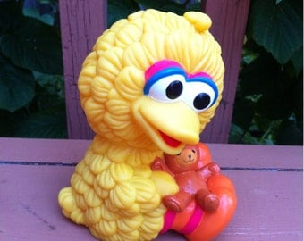 Big Bird Sesame Street Character by Henson 1995 Soft Plastic Toy for Children or Babies