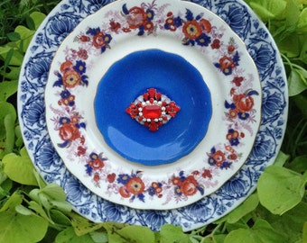 """Glass Plate Flower """"Mixing it Up"""""""