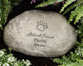 In Loving Memory Personalized Memorial Pet Stone