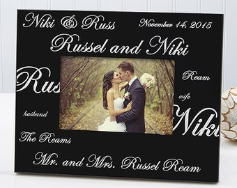 Mr. and Mrs. Collection Personalized Picture Frame