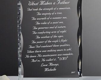 My Father Poem Personalized Keepsake