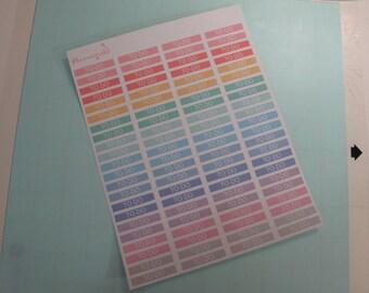 """88 MATTE Pastel """"To Do"""" Stickers for Erin Condren EC Life Planner Full Sheet"""