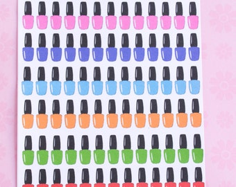 Small Nail Polish Bottle Stickers for your Erin Condren Life Planner - 104 Stickers (Brights)