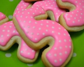 Polka Dot Number 5 Sugar Cookies, Birthday Year, 5 Years Old