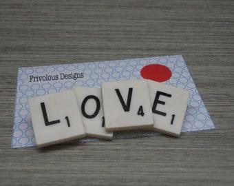Love, Scrabble Brooches