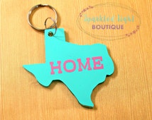 Texas HOME Keychain / Texas is Home / Texas Keychain / I Love Texas