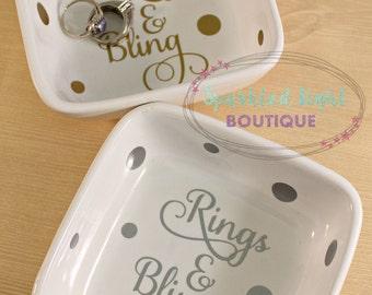 Jewelery Holder / Ring Dish / Rings & Bling