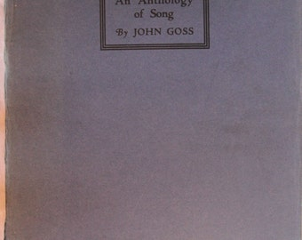 Vintage Songbook - An Anthology of Song by John Goss