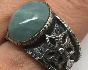 Aquamarine silver ring,Aquamarine stone,Aquamarine gemstone,Aquamarine ring, silver ring,stone jewelry, stone ring, handmade silver ring