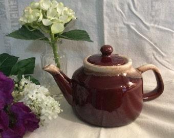 McCoy Brown Drip Teapot, Made in USA, McCoy Teapot, Brown Drip