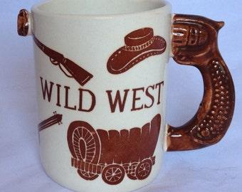 Wild West Coffee Mug with Pistol Handle