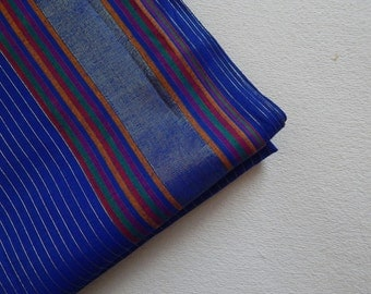 1 yard of South Cotton Fabric, Handwoven Fabric, Indian Cotton Fabric, Indian Fabric, Ethnic Fabric, Blue Fabric