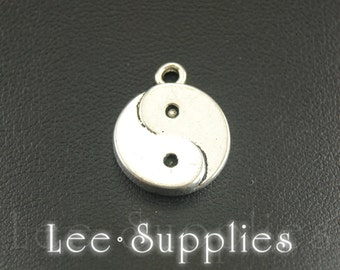 10pcs Antique Silver Alloy Yin And Yang Charms Pendant A851