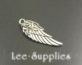 10pcs Antique Silver Bronze Alloy Mini Angel Wings Charms Pendant A810/A706