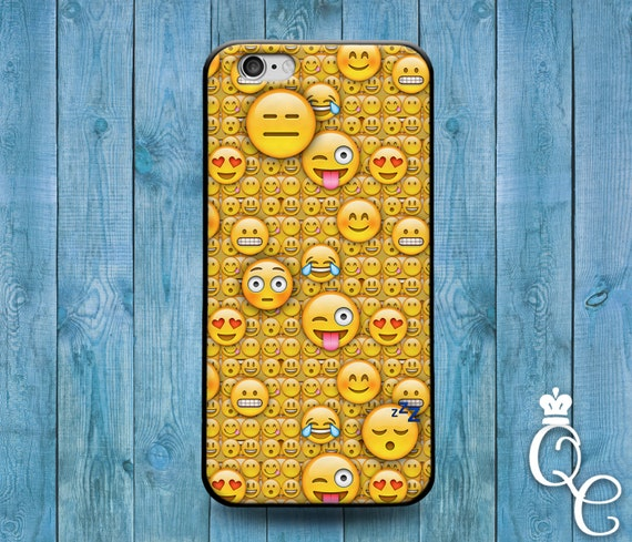 iPhone 4 4s 5 5s 5c SE 6 6s 7 plus + iPod Touch 4th 5th 6th Gen Cute Smiley Face Emoji Collage Cover Funny Fun Yellow Phone Case Gift Cool