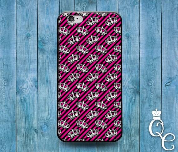 iPhone 4 4s 5 5s 5c SE 6 6s 7 plus iPod Touch 4th 5th 6th Gen Cute Pink Black Crown Keep Calm Cover Cool Fun Girly Girl Princess Queen Case