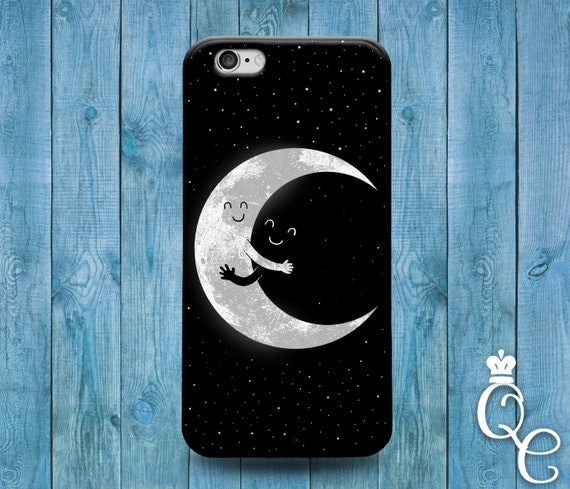 iPhone 4 4s 5 5s 5c SE 6 6s 7 plus iPod Touch 4th 5th 6th Generation Cute Moon Sun Hug Cute Cool Black White Star Phone Cover Fun Funny Case