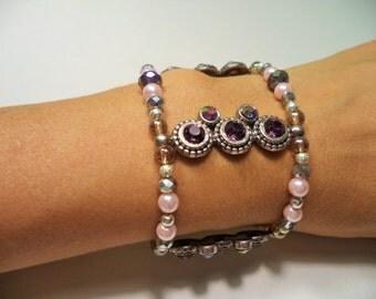 Double-Strand Stretch Beaded Bracelet